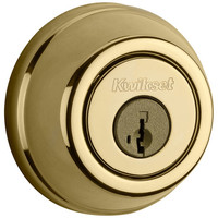 Kwikset Signature Series 910 Z-Wave Traditional Deadbolt, Polished Brass