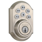 Kwikset SmartCode 910 Z-Wave Plus Deadbolt, Satin Nickel (Open Box)