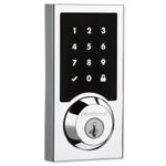 Kwikset SmartCode 916 Z-Wave Plus Contemporary Style Touchpad Deadbolt with Home Connect, Polished Chrome (Open Box)