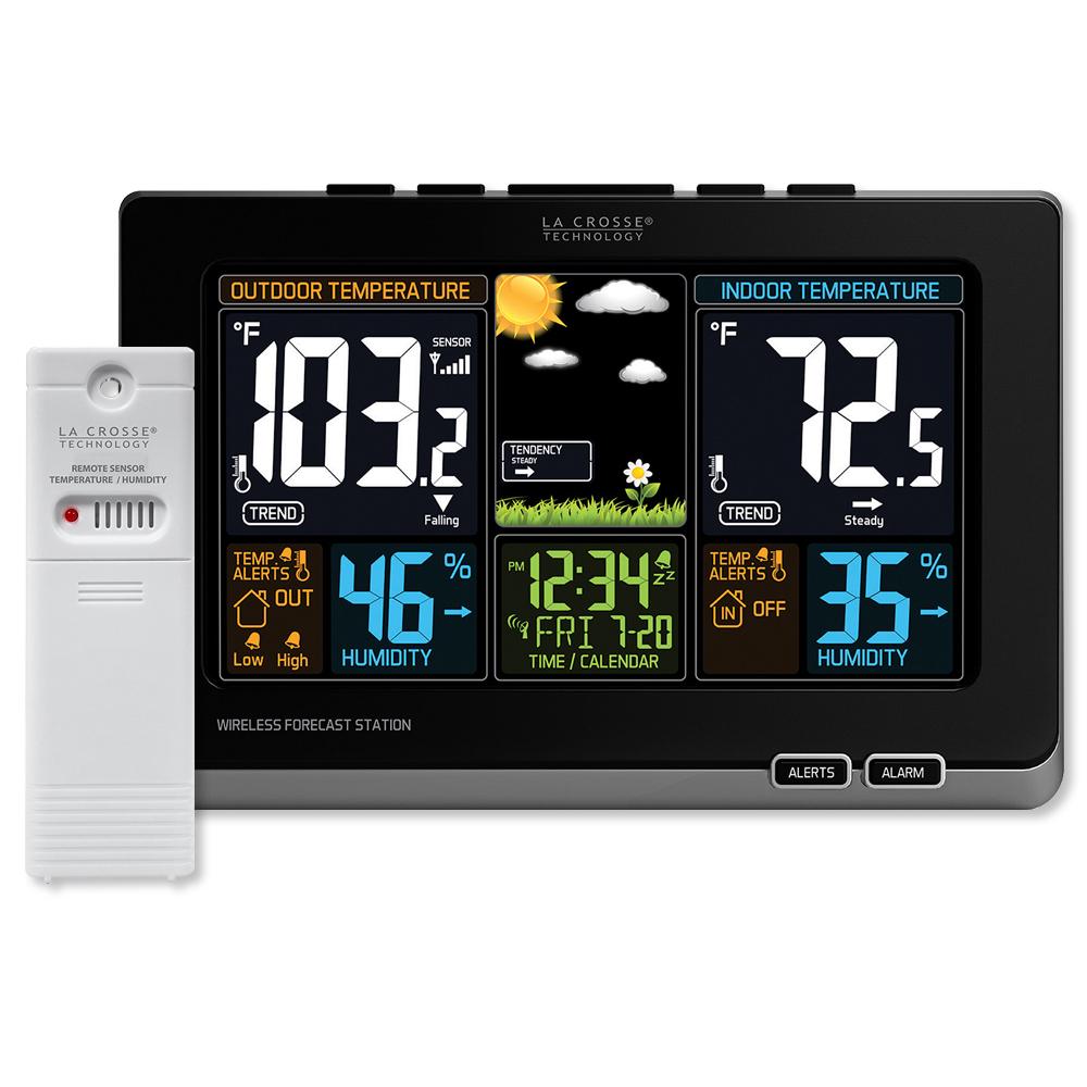 La Crosse Wireless Color Weather Station, Black