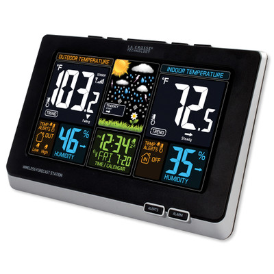 La Crosse Wireless Color Weather Station, Black