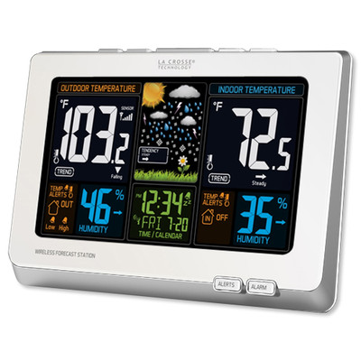 La Crosse Wireless Color Weather Station, White