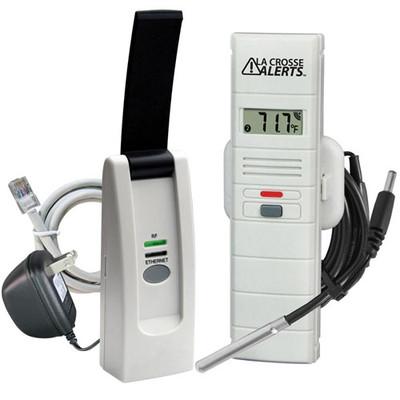 La Crosse Alerts Temperature & Humidity Monitor & Alert Kit with Wet Probe