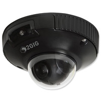 2GIG Indoor/Outdoor 2MP Mini-Dome PoE Camera, Black, 2.8mm