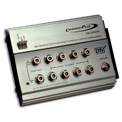 ChannelPlus High-Headroom RF Distribution Amplifier with 12V IR
