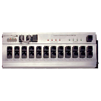 ChannelPlus Telephone Distribution Module with Surge Protection, 4x24