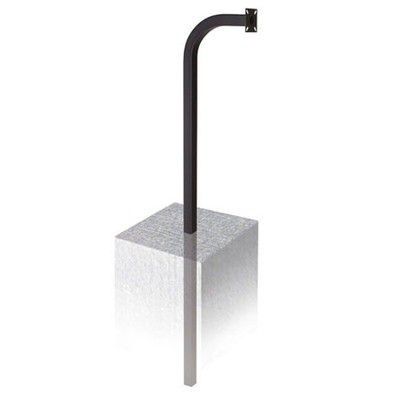 Linear Residential Telephone Entry System Gooseneck Pole, Burial-Mount