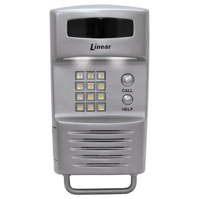 Linear Residential Telephone Entry Controller with 2 Relays, Pole Mount, Stainless Steel