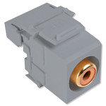 Leviton QuickPort RCA to 110 Snap-In Connector, Orange Insert, Gray