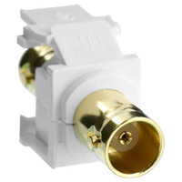 Leviton QuickPort BNC Snap-In Connector (Gold-Plated), White