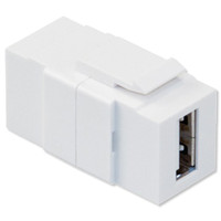 Leviton QuickPort USB Snap-In Connector, White