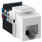 Leviton QuickPort Voice-Grade Cat5 Snap-In Connector, White
