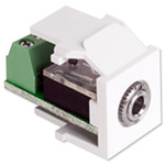 Leviton QuickPort 3.5mm Stereo Snap-In Connector, White