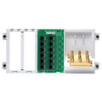 Leviton 4x12 Telephone Distribution Panel with Splitter