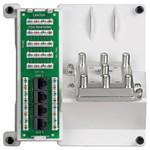 Leviton Compact 1x4 Bridged Telephone, 4 Data & 6-Way TV Panel