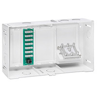 Leviton Compact Structured Media Enclosure with Telephone Board & Splitter