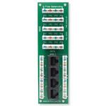 Leviton 1x4 Combo Phone & Data Board