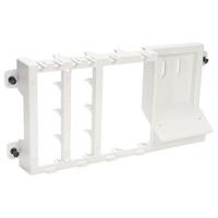 Leviton Structured Media Center Plastic Bracket (for 3 Boards & Splitter)