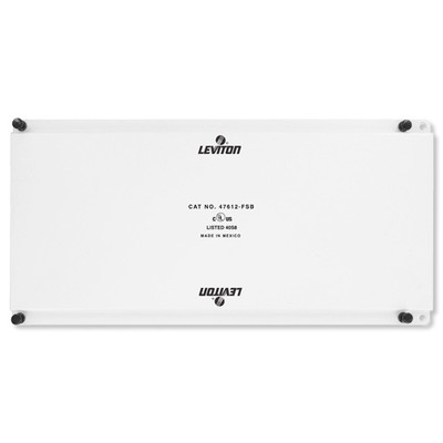 Leviton Structured Media Center Universal Security Plate, Full Width