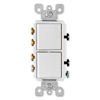 Leviton Decora 3-Way Combination Wall Switch (Dual Switch), White