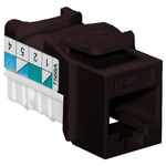 Leviton QuickPort Home 6 Snap-In Connector, Brown