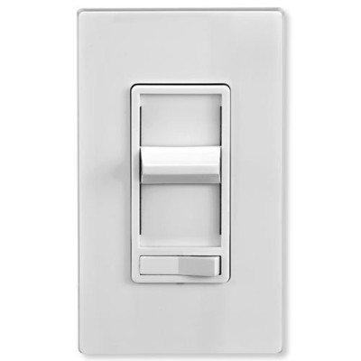 Leviton SureSlide Preset Incandescent Slide Dimmer Wall Switch, White
