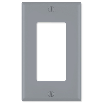 Leviton Decora Wallplate, 1-Gang, Gray