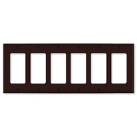 Leviton Decora Wallplate, 6-Gang, Brown