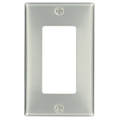 Leviton Decora Wallplate, 1-Gang, Metallic, Aluminum