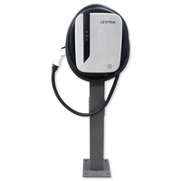 Leviton Evr-Green 30A, EV Charging Station & Pedestal Mounting Pole and Base