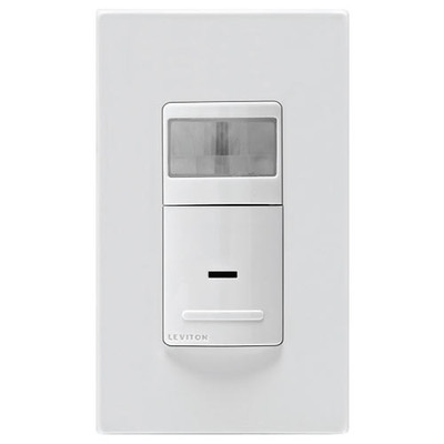 Leviton Universal Wall Switch Vacancy Sensor, 600W, Manual On