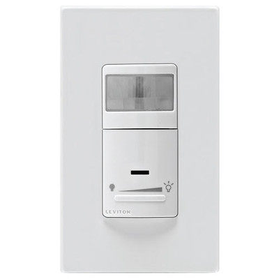 Leviton Universal Dimming Wall Switch Vacancy Sensor, 600W, Manual On