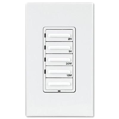 Leviton Decora Preset Countdown Timer Wall Switch, 2 Hr (1/4, 1/2, 1, 2 Hr)