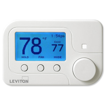 Leviton Omnistat2, Multistage & Heat Pump with Humidity Control, White