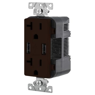 Leviton 2-Port USB Charger & Tamper-Resistant Duplex Receptacle, 20A