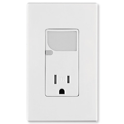 Leviton Decora Combination Wall Switch (LED Guide Light & Receptacle), White