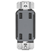 Leviton 4-Port USB Charger, Gray