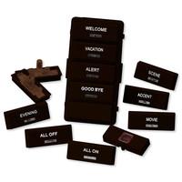 Leviton Vizia RF + Label Kit for VRCS4 Controller, Brown
