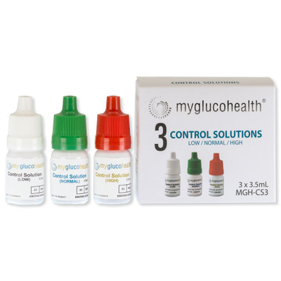 MyGlucoHealth Blood Glucose Control Solution, High, Normal, Low