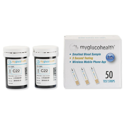 MyGlucoHealth Blood Glucose Test Strips (50 Pack)