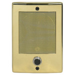 M&S Systems DMC Intercom Door Station with Bell Button, Bright Brass