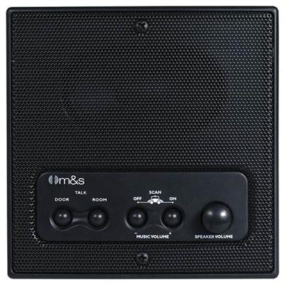 M&S Systems DMC Intercom Patio Station, Remote Scan, Master Volume, 3-Wire Retrofit, Black