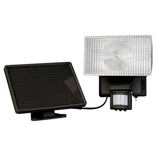 Maxsa Solar-Powered Motion-Activated 80 LED Floodlight, Black