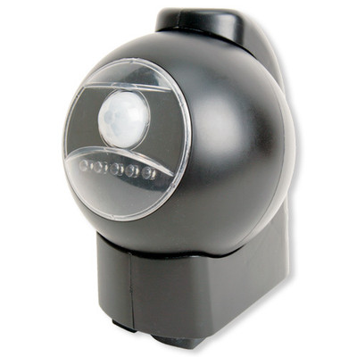 Maxsa Battery-Powered Motion-Activated LED Outdoor Light, Black