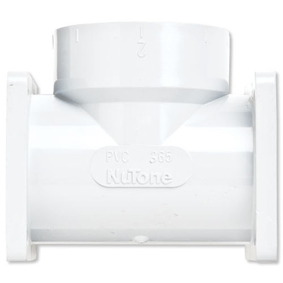 NuTone Central Vacuum Double Flanged T Fitting