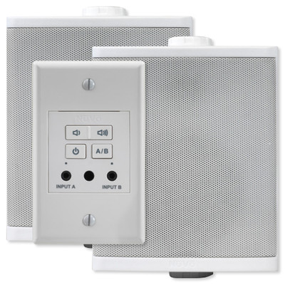 Nuvo Decora Style Wall Amplifier with Speakers, 40 Watt