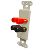 OEM Systems Pro-Wire Jack Plate (4 Binding Posts), Ivory