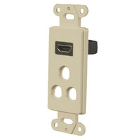 OEM Systems Pro-Wire Combo Jack Plate (1 HDMI with 3 Modular Ports), Almond