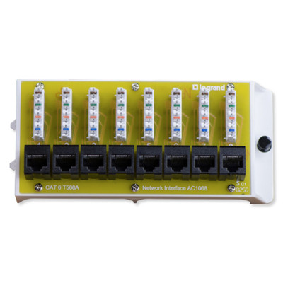 On-Q/Legrand 8 Port Cat6 Network Interface Module