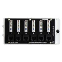 On-Q Legrand 6-Port Cat6a Network Interface Module